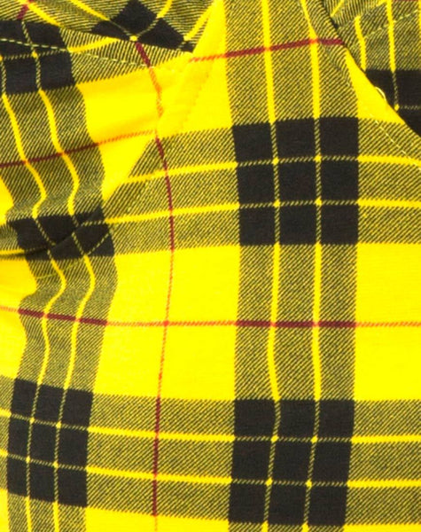Lantas Bodice in Winter Plaid Yellow By Motel
