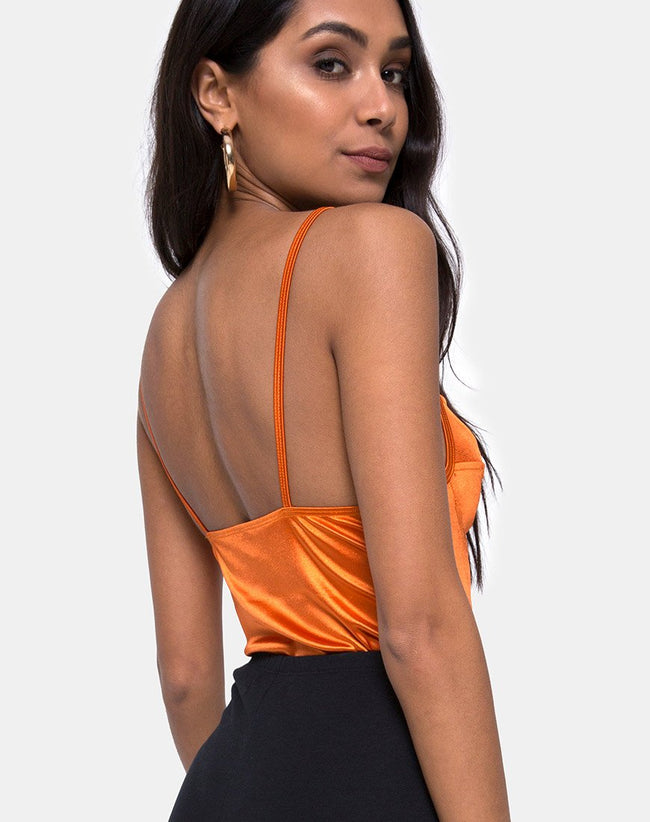 Lantas Bodice in Satin Salt Caramel by Motel