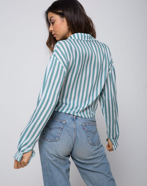 Lauv Shirt in Mid Stripe by Motel