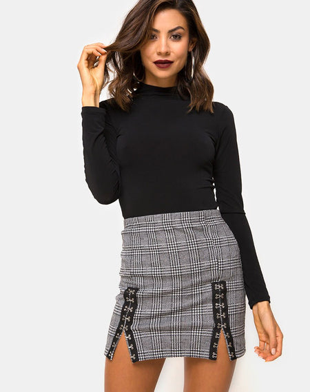 Kimmy Skirt in Eclipse Repeat by Motel
