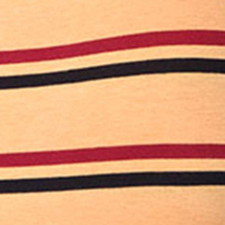 Lucia Bodice in 70's Stripe Mustard Horizontal Stripe by Motel