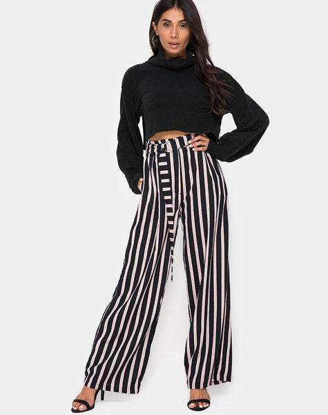 Majustie Trouser in Formal Stripe By Motel