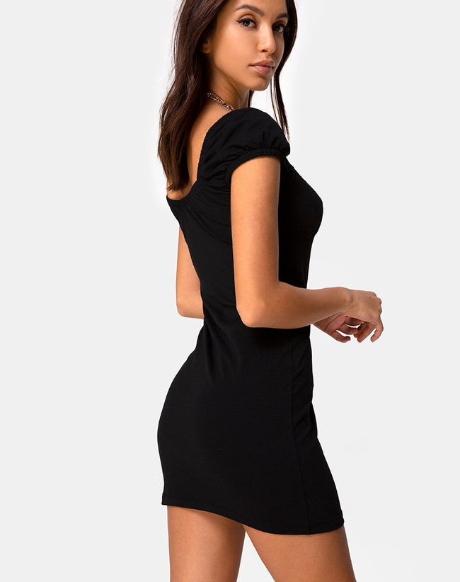 Malia Bodycon Dress in Black by Motel