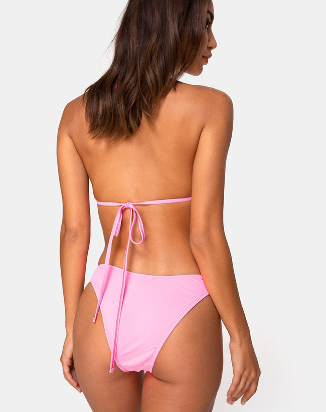 Meeka Bikini Top in Neon Pink by Motel