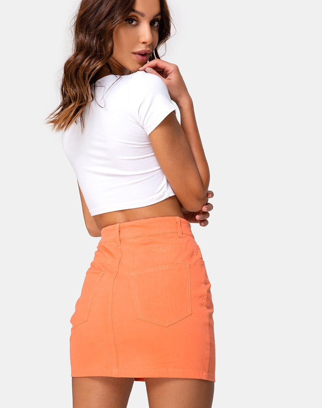 Mini Broomy Skirt in Coral by Motel