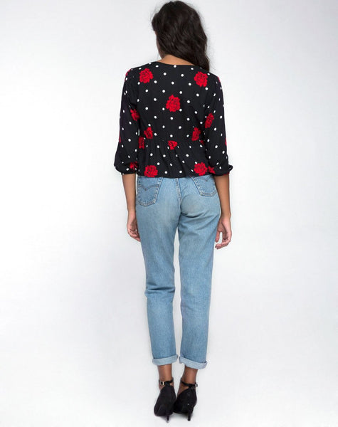 Mosca Plunge Top in Cuban Rose by Motel