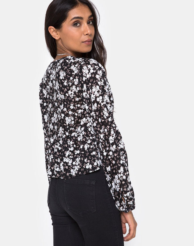 Mousye Top in Dark Wild Flower by Motel
