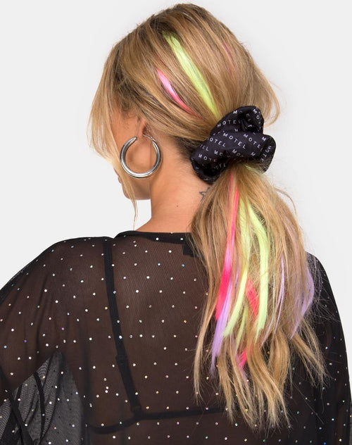 Hair Extension in Fairy Heart Hot Pink by The Unicorn Glow
