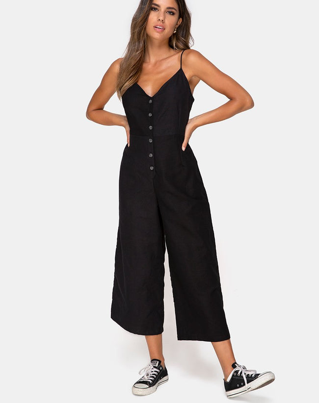 Nasa Jumpsuit in Black by Motel