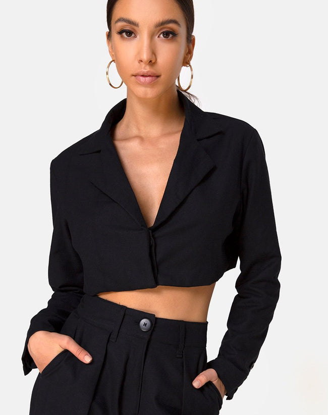 Noly Blazer in Black by Motel