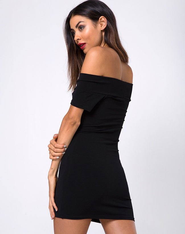 Nunim Bodycon Dress in Black by Motel