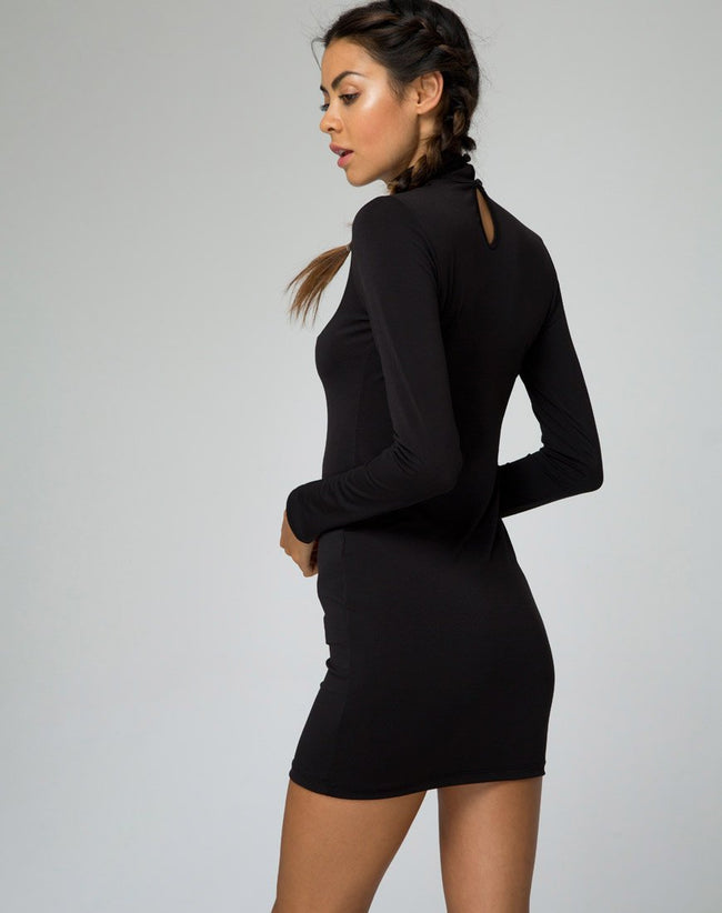 Nymphea Bodycon Dress in Black by Motel