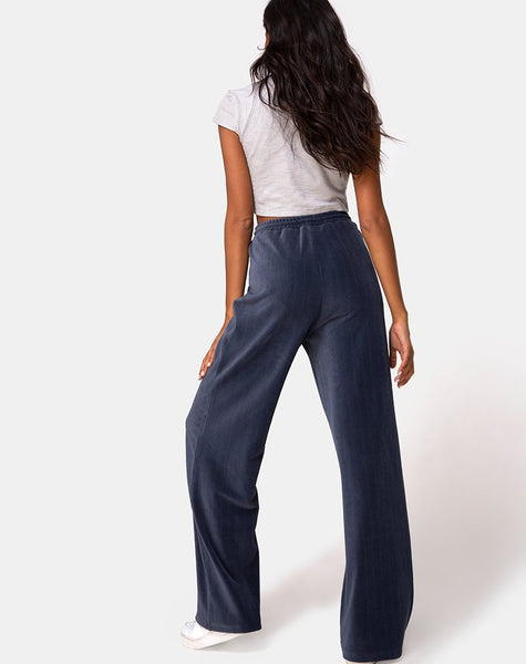 Obeli Trouser in Rib Charcoal by Motel