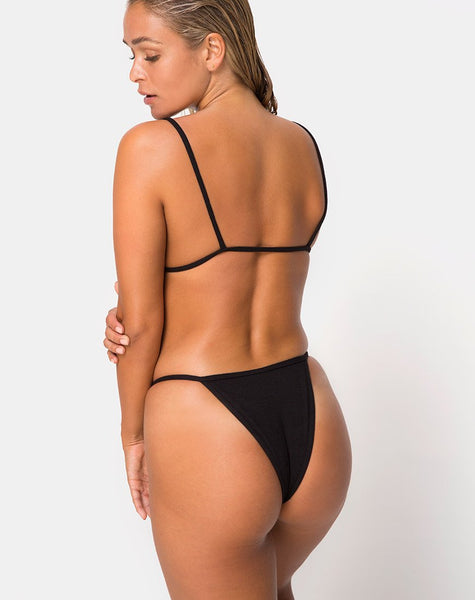 Oko Bikini Bottom in Black by Motel