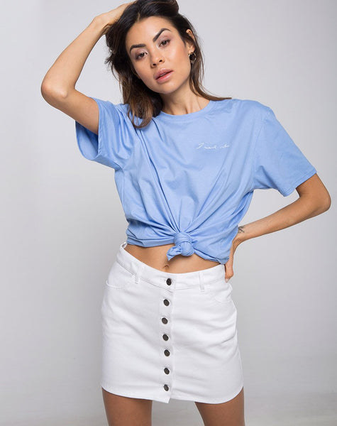 05ff57c357a0c Oversize Basic Tee in I want Change by Motel – motelrocks-com-us