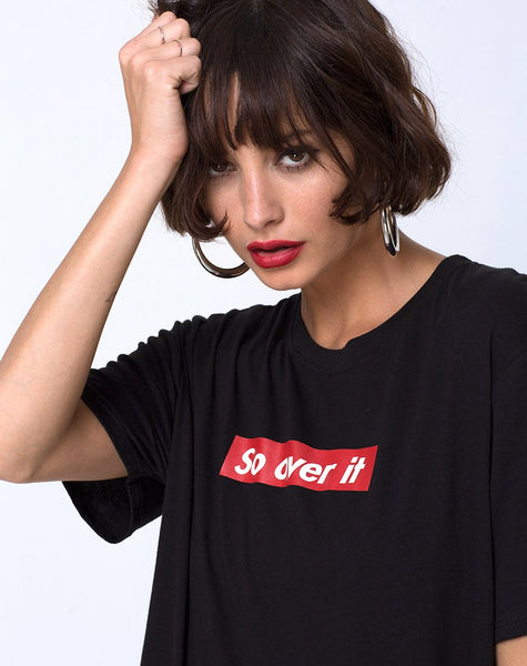 Oversize Basic Tee in So Over It by Motel