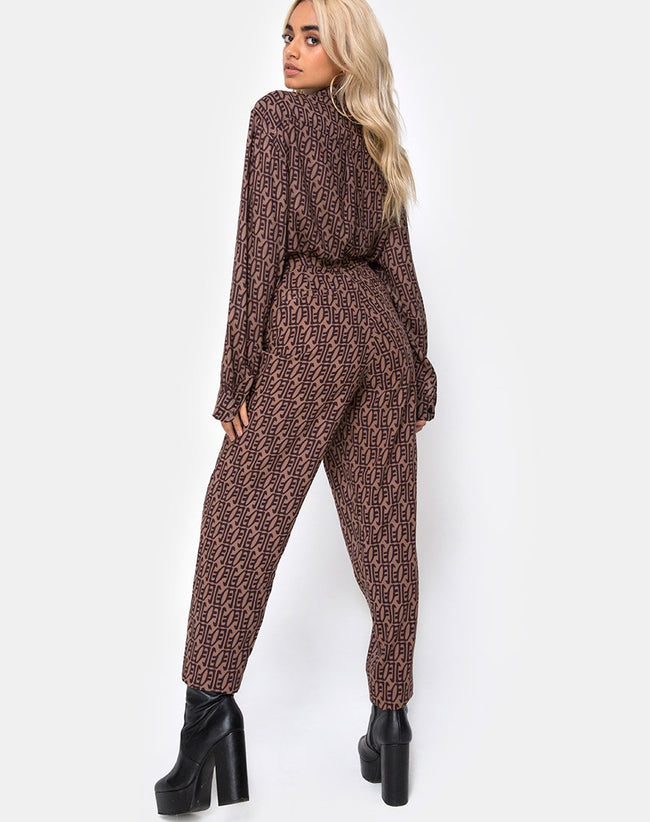Dastan Trouser in Chinese Moon By Motel