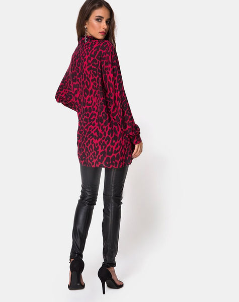 Disam Shirt in Oversize Jaguar Red By Motel