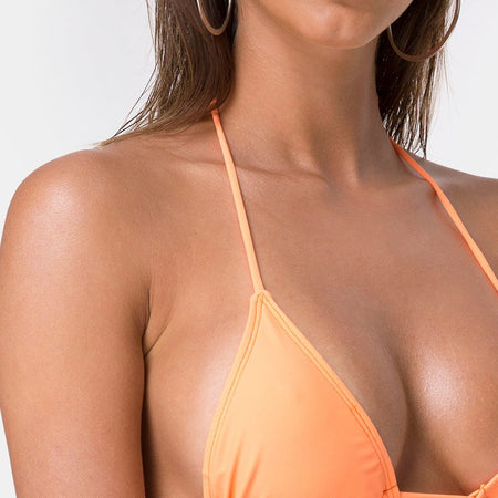 Pami Bikini Top in Highlighter Orange by Motel