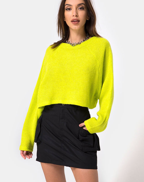 Pargo Cargo Skirt in Black by Motel