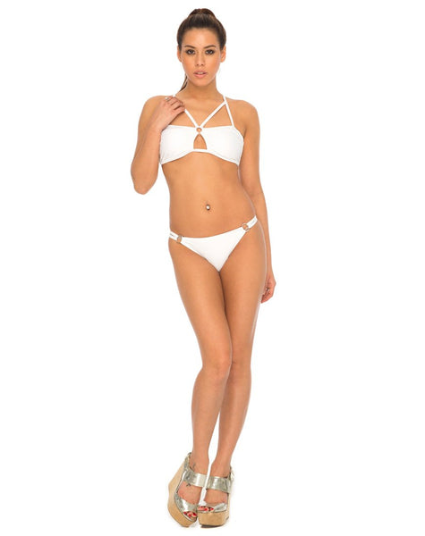 Pavlona Bikini Bottoms in White by Motel