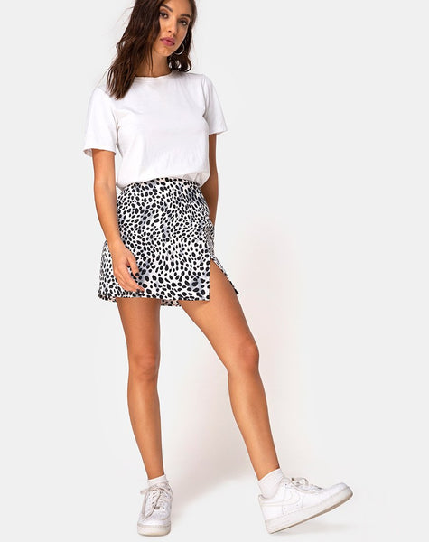 Pelmet Mini Skirt in Dalmatian by Motel