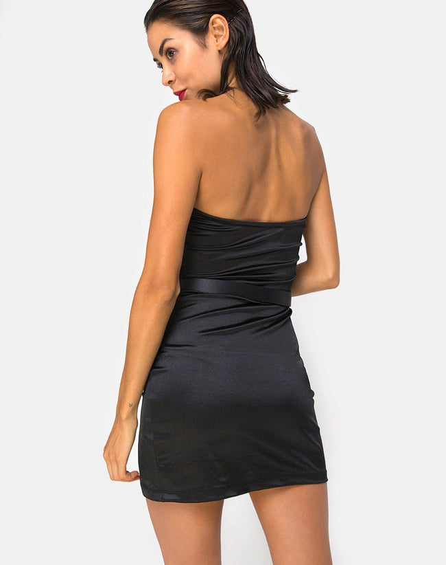 Pesona Mini Dress in Black By Motel