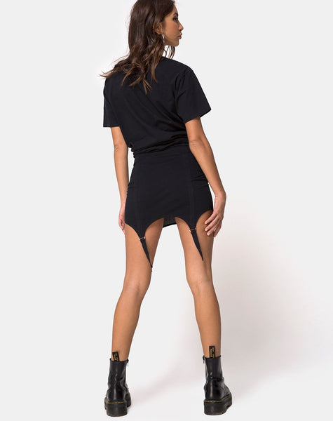 Pesta Mini Skirt in Black by Motel