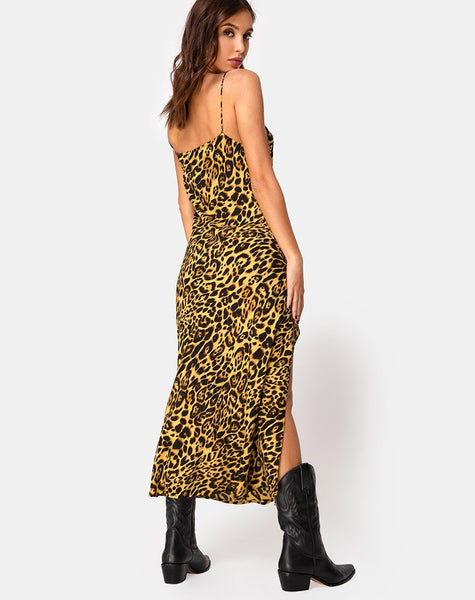 Quinty Dress in Leopard by Motel