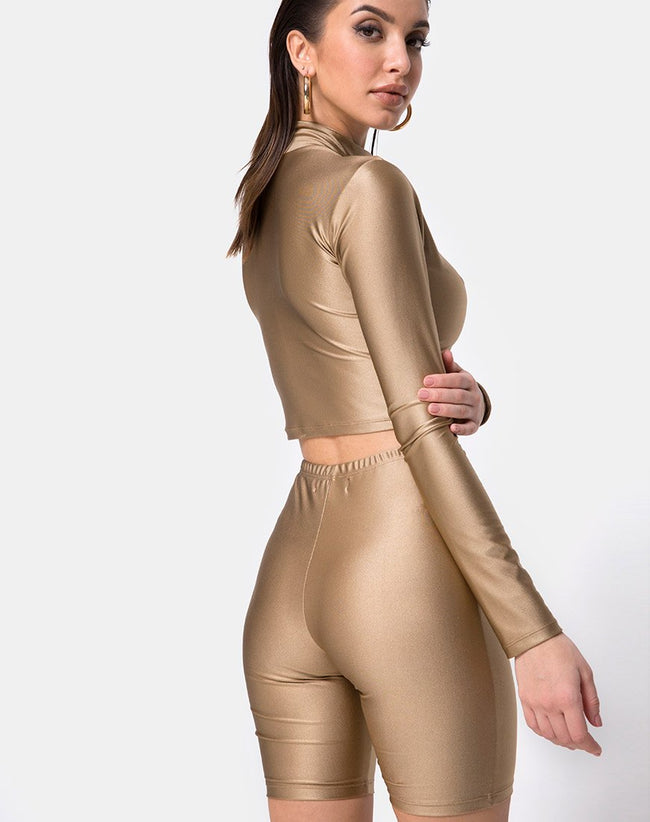 Cycle Short in Nylon Gold by Motel