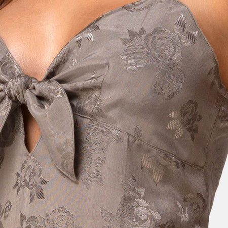 Ronina Dress in Satin Rose Silver Grey by Motel