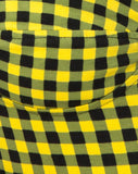 Ryon Bodice in Medium Gingham Yellow by Motel