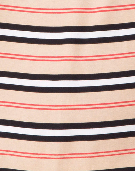 Sagha Dress Slip Dress in Classic Stripe Horizontal by Motel