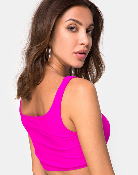 Shani Top in Neon Pink by Motel