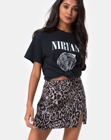 Sheni Mini Skirt in Magic Leopard by Motel