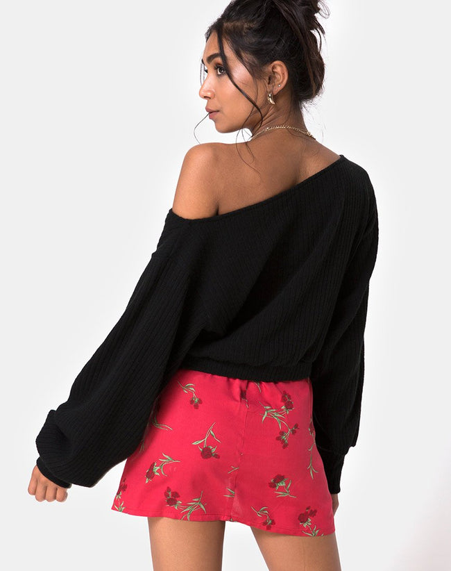 Sheny Mini Skirt in Rouge Rose Pink by Motel