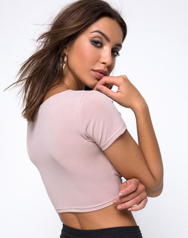 Shim Cutout Top in Nude by Motel