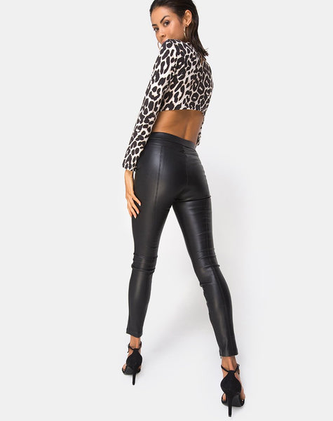 Sinex Cutout Crop Top in Oversize Jaguar by Motel