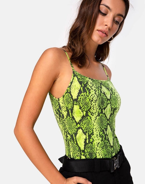 Sol Bodice in Snake Lime by Motel