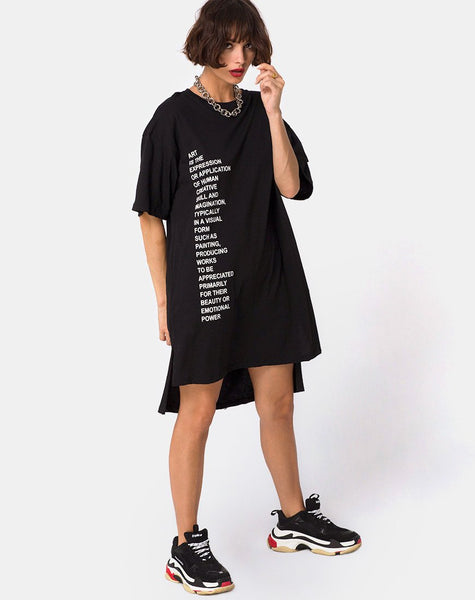 Step Hem 'Art Expression' Oversized T-Shirt Dress by Motel
