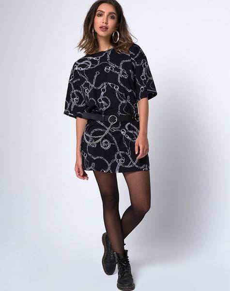 Sunny Kiss Oversize Tee in Chain by Motel