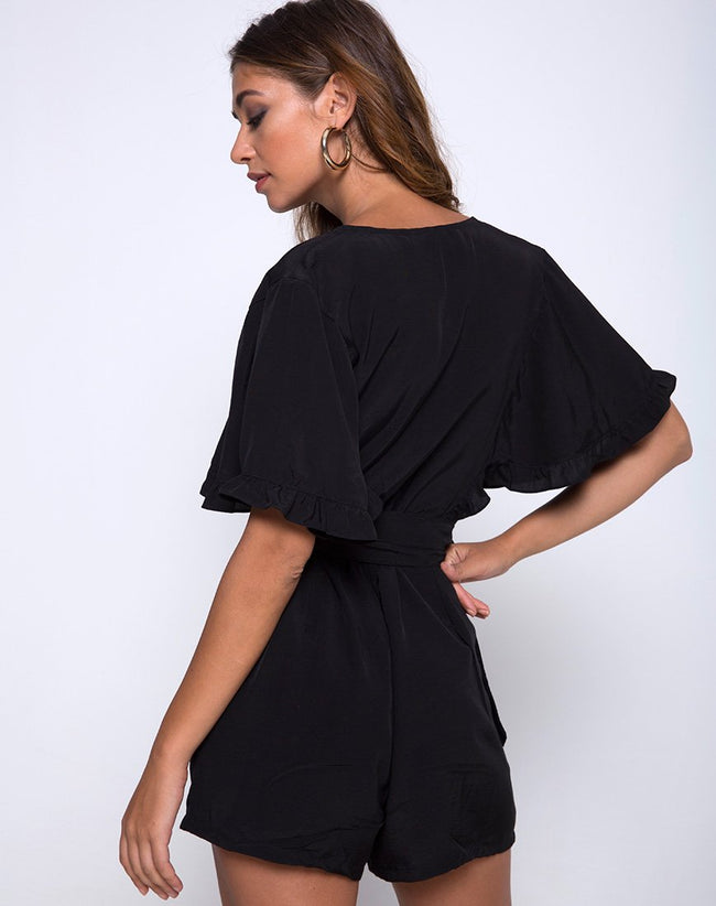 Tamiko Jumpsuit in Black by Motel