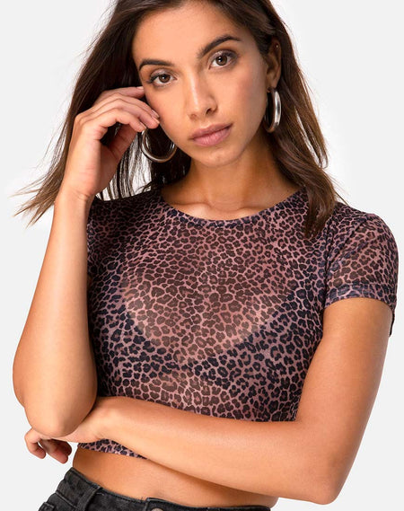 Jakina Crop Top in Magic Leopard by Motel