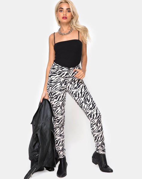 Ultimate Jeans in 90's Zebra by Motel