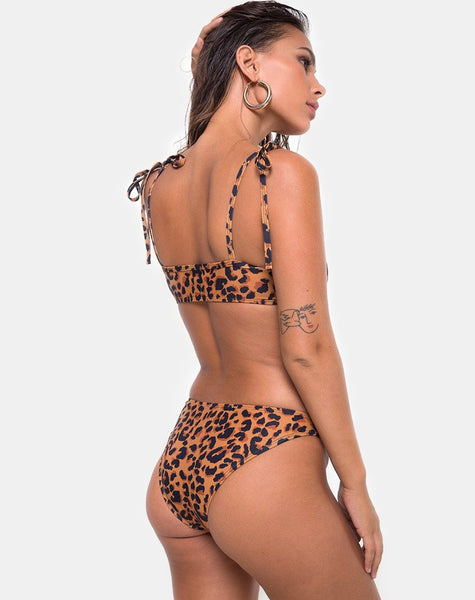 Vanna Bikini Bottom in Burn Out Leopard by Motel