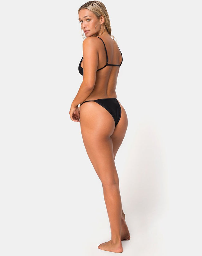 Valter Bikini Bottom in Black by Motel