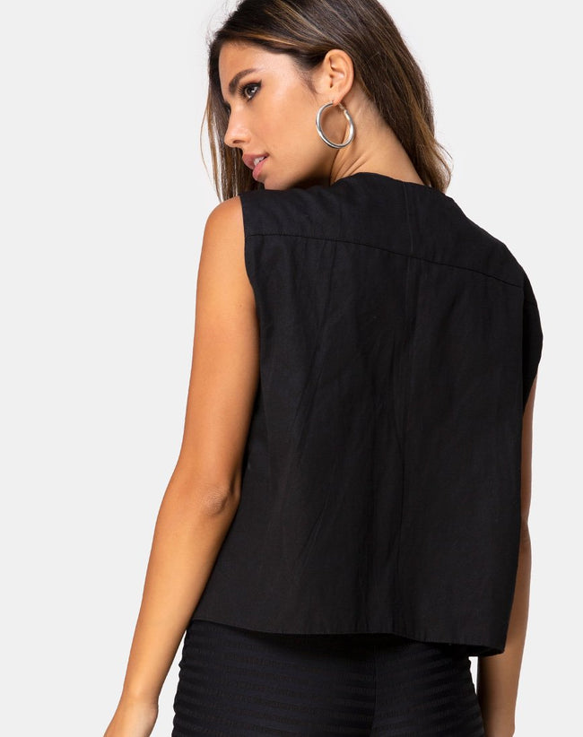 Vest Top Black by Motel