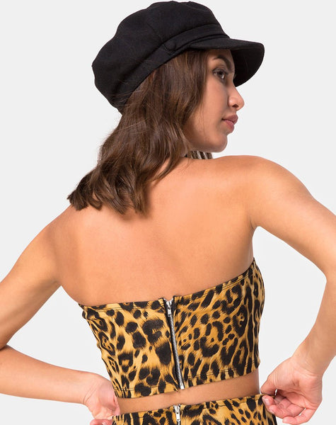 Villy Tube Top in Leopard By Motel