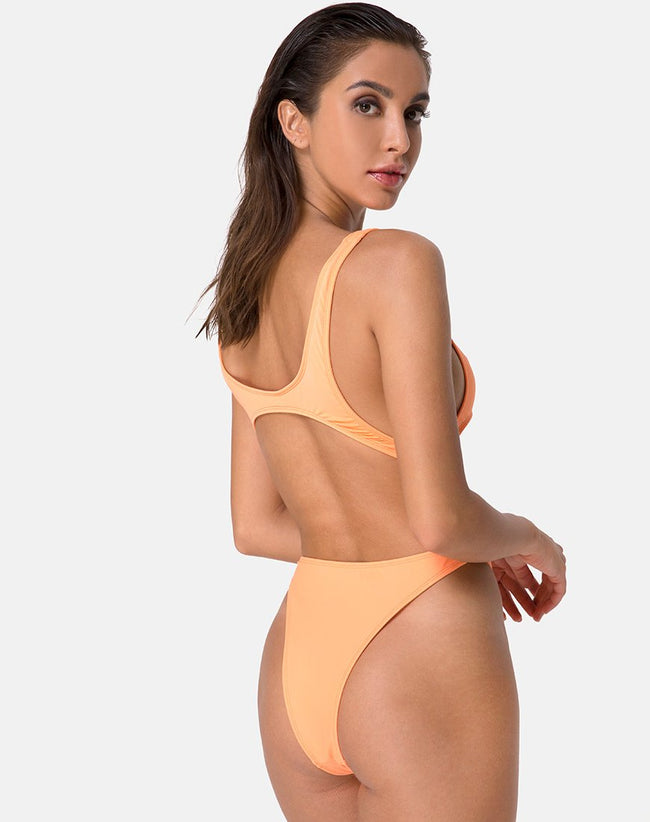 Xanthe Swimsuit in Highlighter Orange by Motel