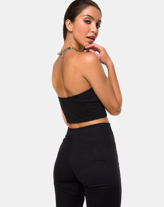 Zipshi Crop Top in Black by Motel
